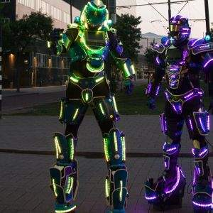 Galaxy Led Robots
